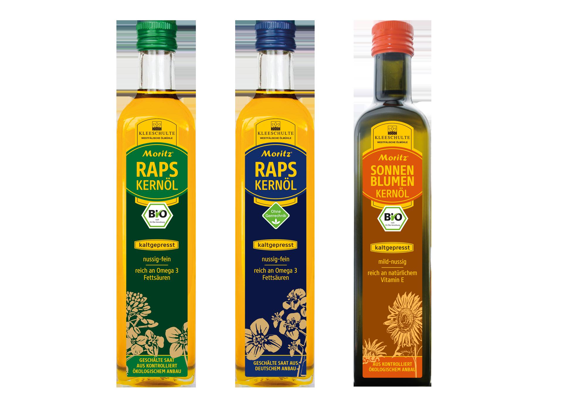 Raps- und Sonnenblumenkernöl