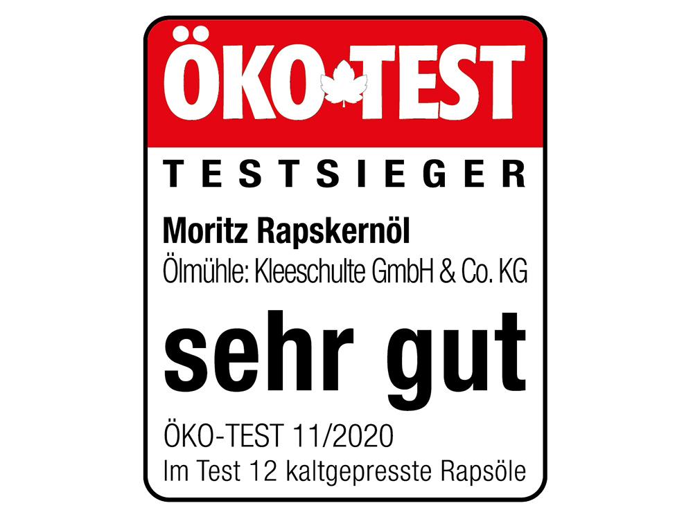 Moritz Ökotest sehr gut bei kaltgepressten Ölen Testsieger