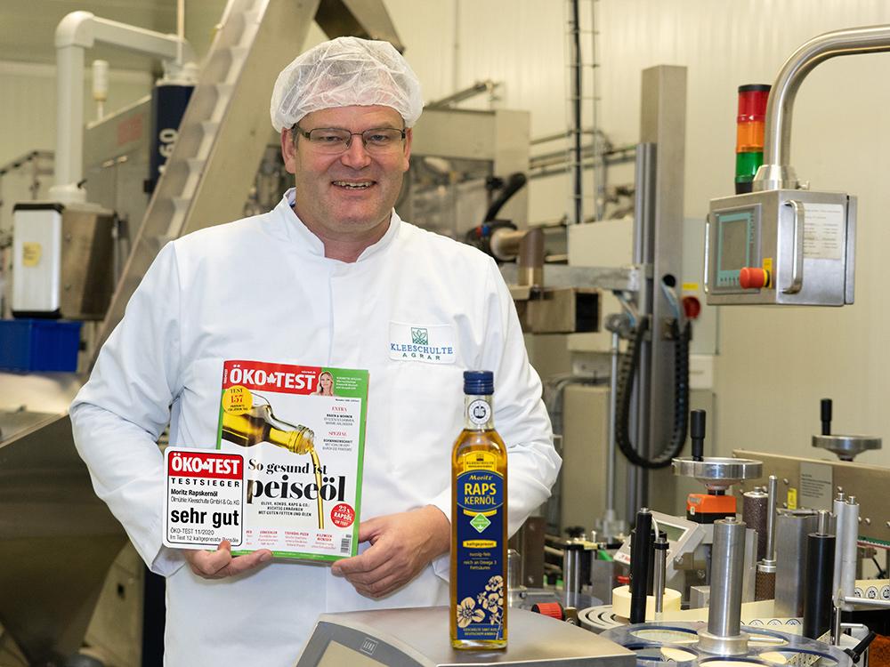 Moritz Ökotest sehr-gut bei kaltgepressten Ölen